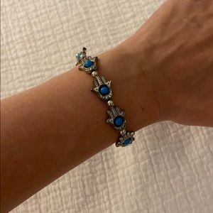 Hamsa Bracelet Adjustable Silver